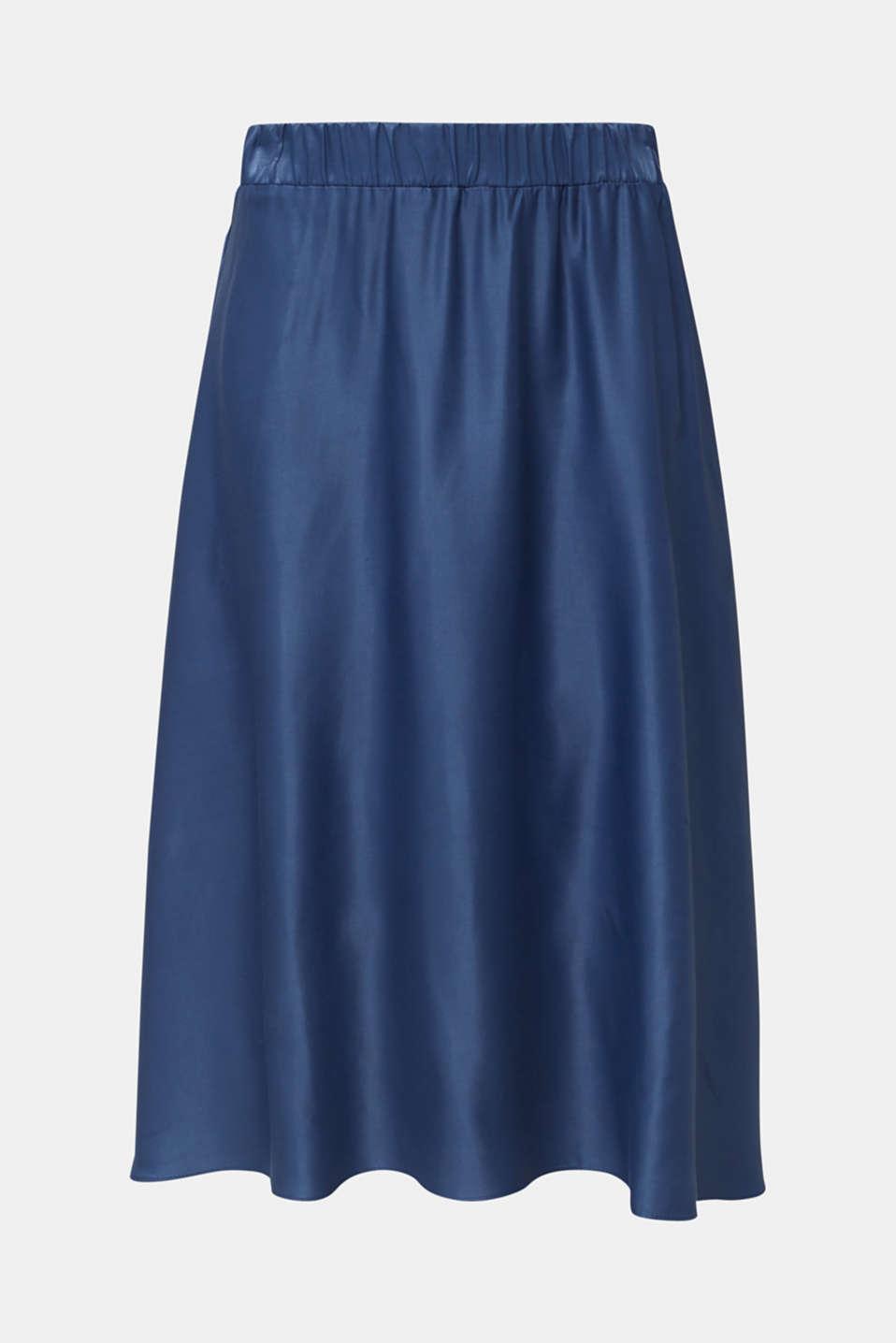 Flared satin skirt, PETROL BLUE 2, detail image number 5