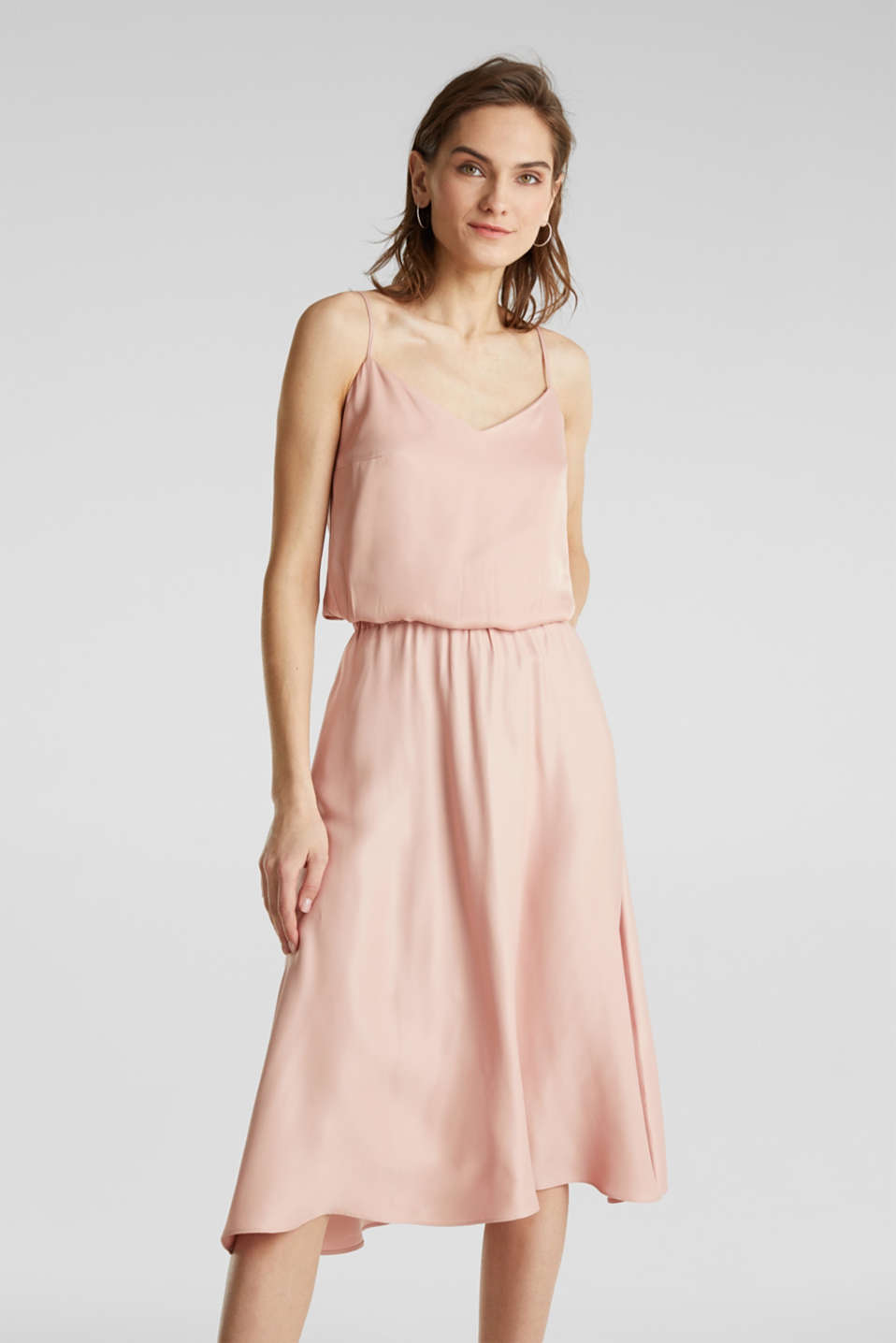 Esprit - Flared satin skirt