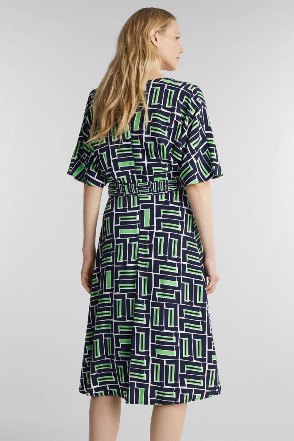 Wrap dress made of LENZING™ ECOVERO™, NAVY 3, detail image number 2