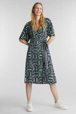 Wrap dress made of LENZING™ ECOVERO™, NAVY 3, detail