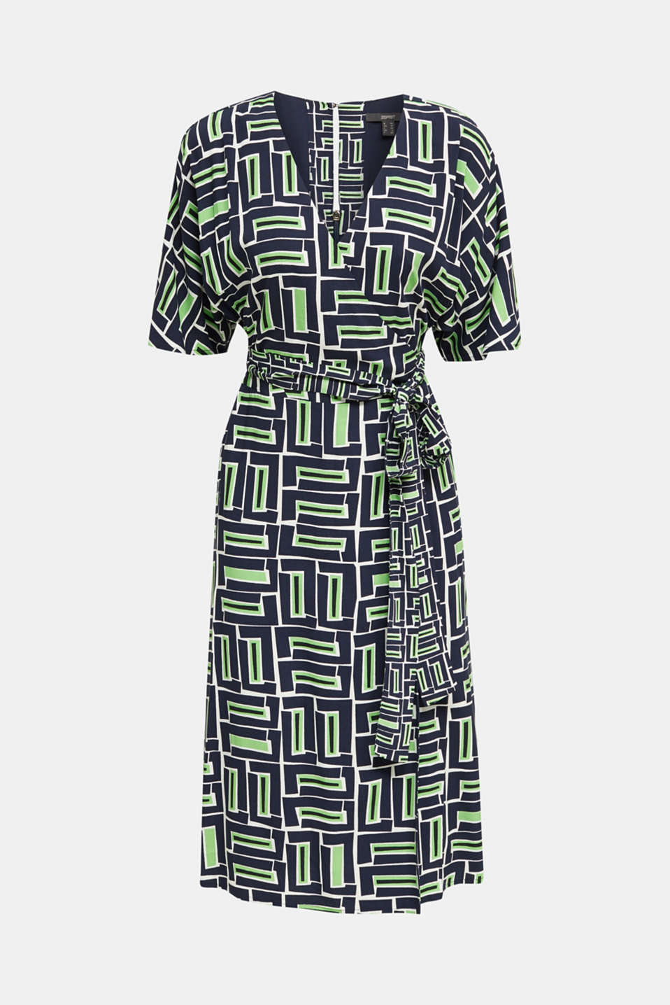 Wrap dress made of LENZING™ ECOVERO™, NAVY 3, detail image number 8