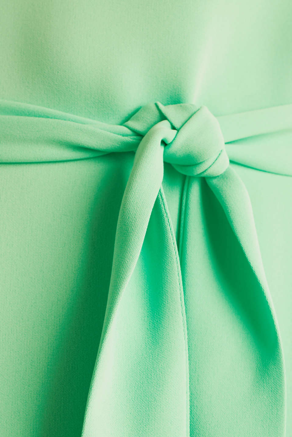 Cloth polo neck dress, LIGHT GREEN, detail image number 4