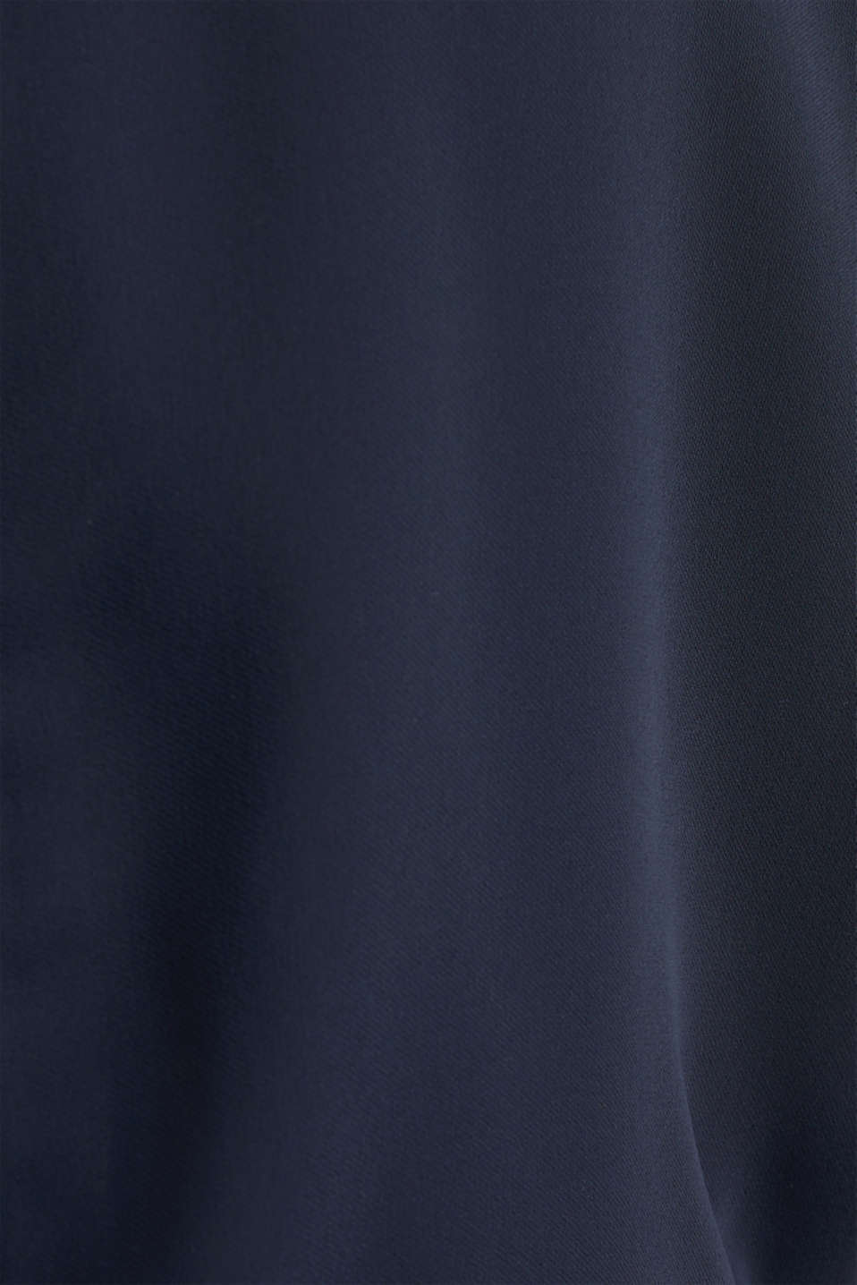 Cloth polo neck dress, NAVY, detail image number 3