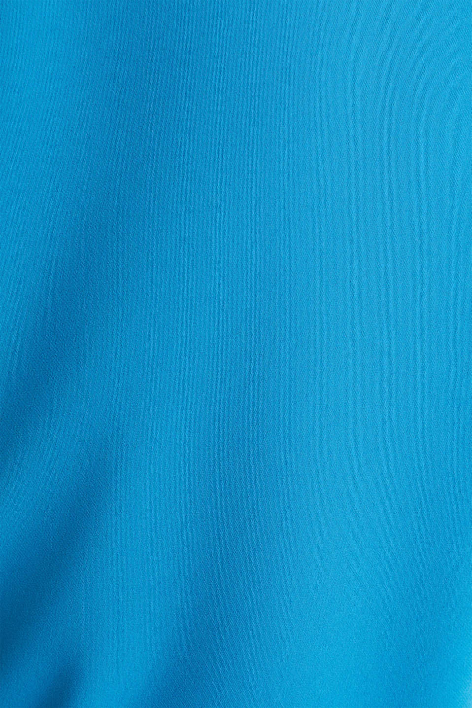 Cloth polo neck dress, DARK TURQUOISE, detail image number 4