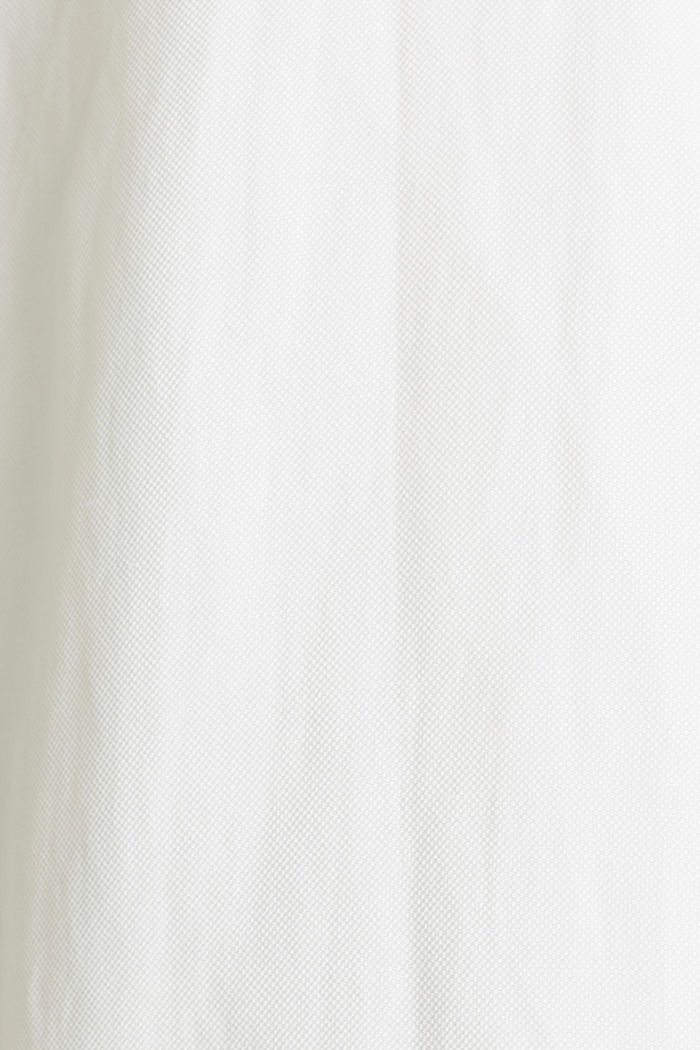 Blended linen: Dress with a tie-around belt, OFF WHITE, detail image number 4