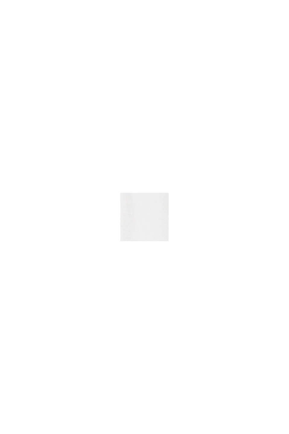 Mit Leinen: Kleid mit Bindegürtel, OFF WHITE, swatch
