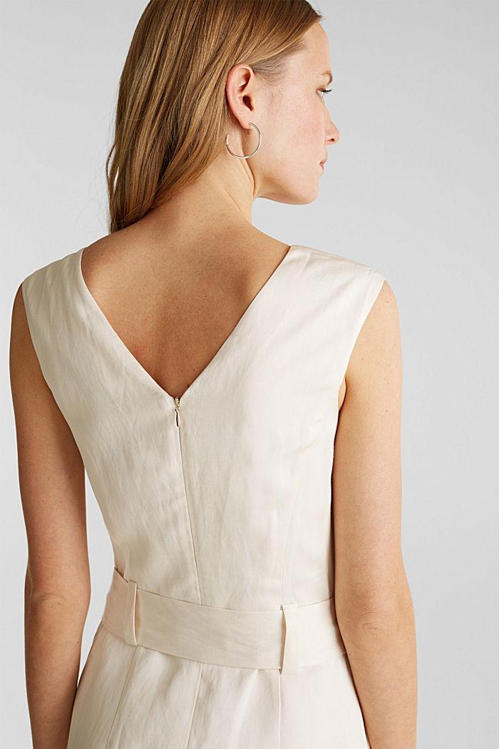 Z lnem: sukienka z wiązanym paskiem, SAND, detail image number 5