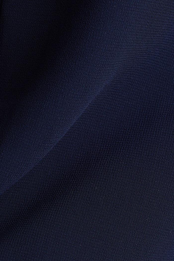 Chiffon-Kleid mit High-Low-Saum, NAVY, detail image number 4
