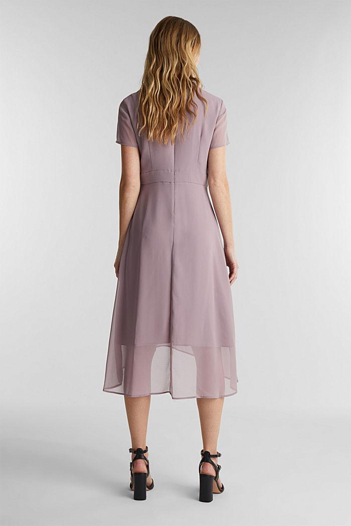 Chiffon-Kleid mit High-Low-Saum, MAUVE, detail image number 2