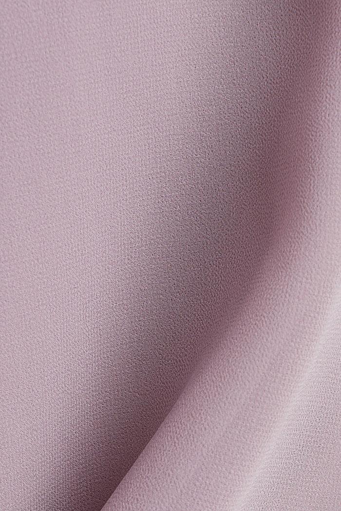 Chiffon-Kleid mit High-Low-Saum, MAUVE, detail image number 4