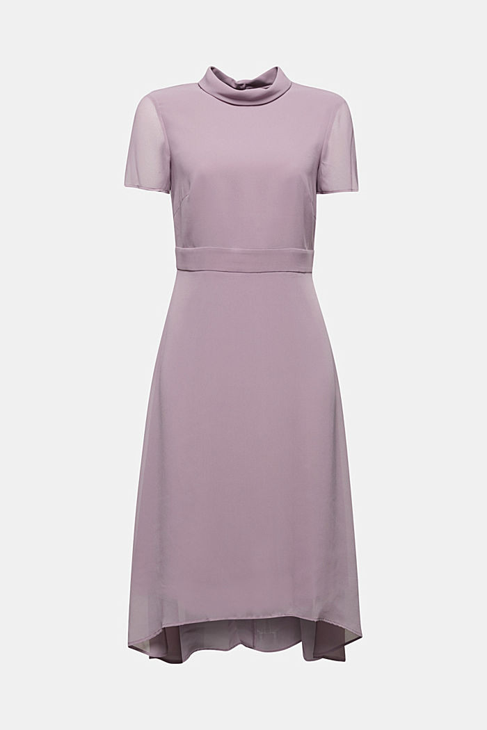 Chiffon-Kleid mit High-Low-Saum