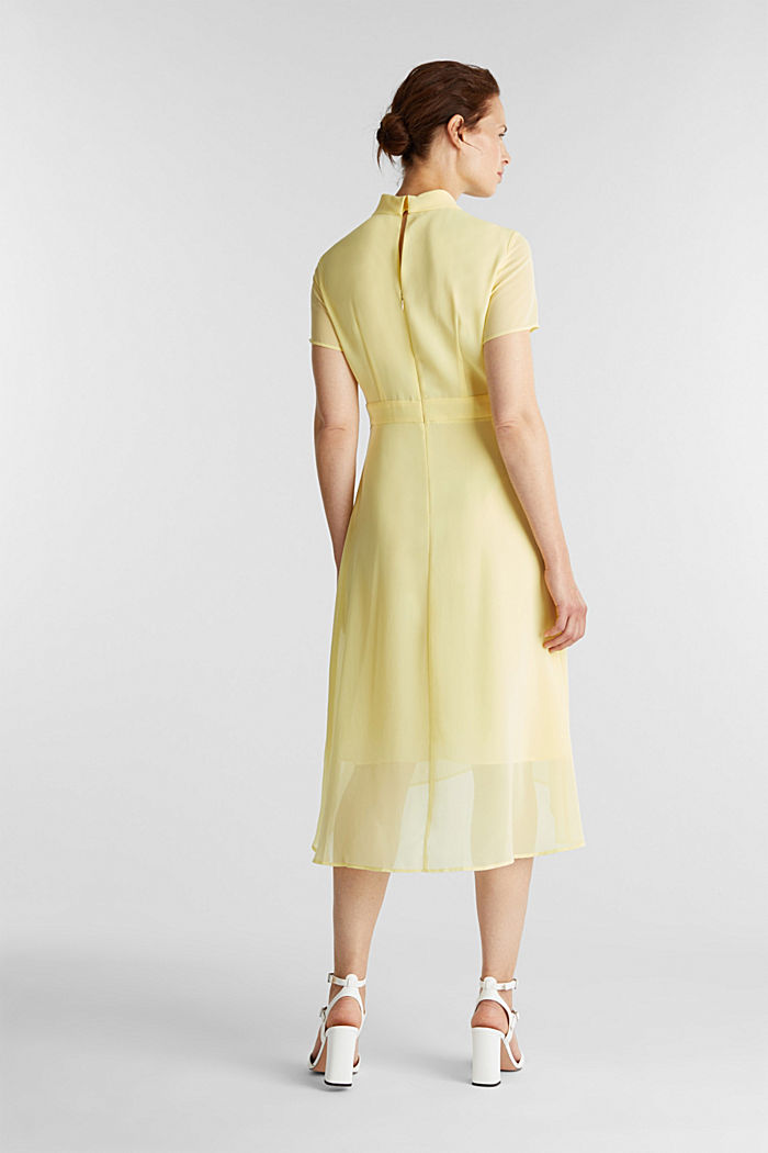 Chiffon-Kleid mit High-Low-Saum, LIME YELLOW, detail image number 2