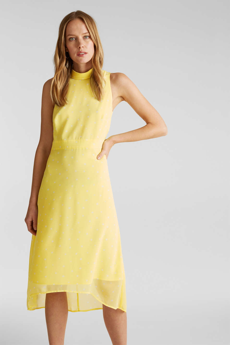 Esprit - Chiffon dress with a high-low hem