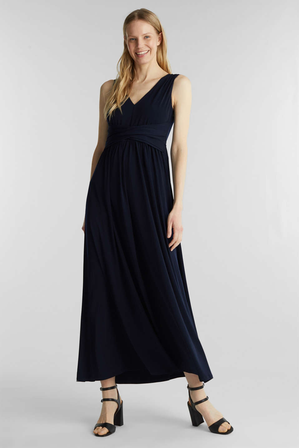 Maxi dress with wrap details, NAVY, detail image number 0