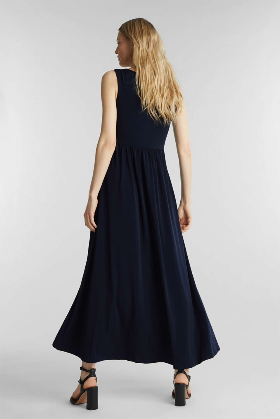 Maxi dress with wrap details, NAVY, detail image number 2