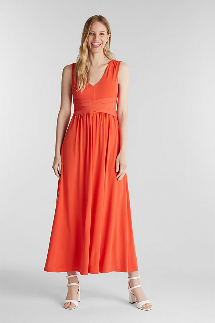 Maxi dress with wrap details, RED ORANGE, detail image number 0