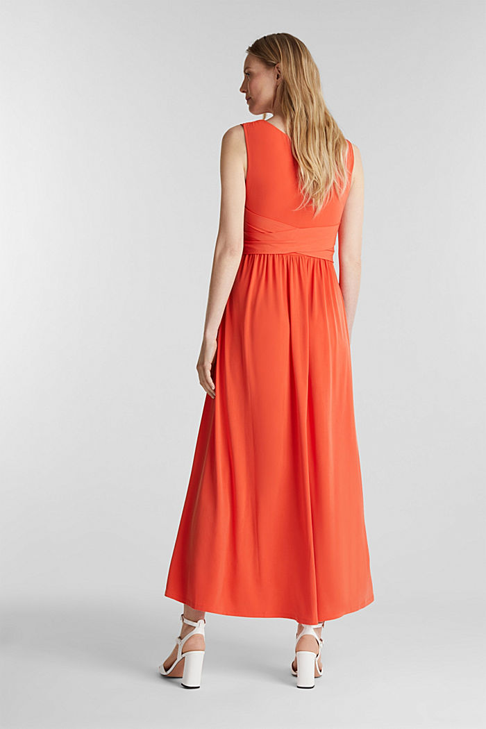 Maxi dress with wrap details, RED ORANGE, detail image number 2
