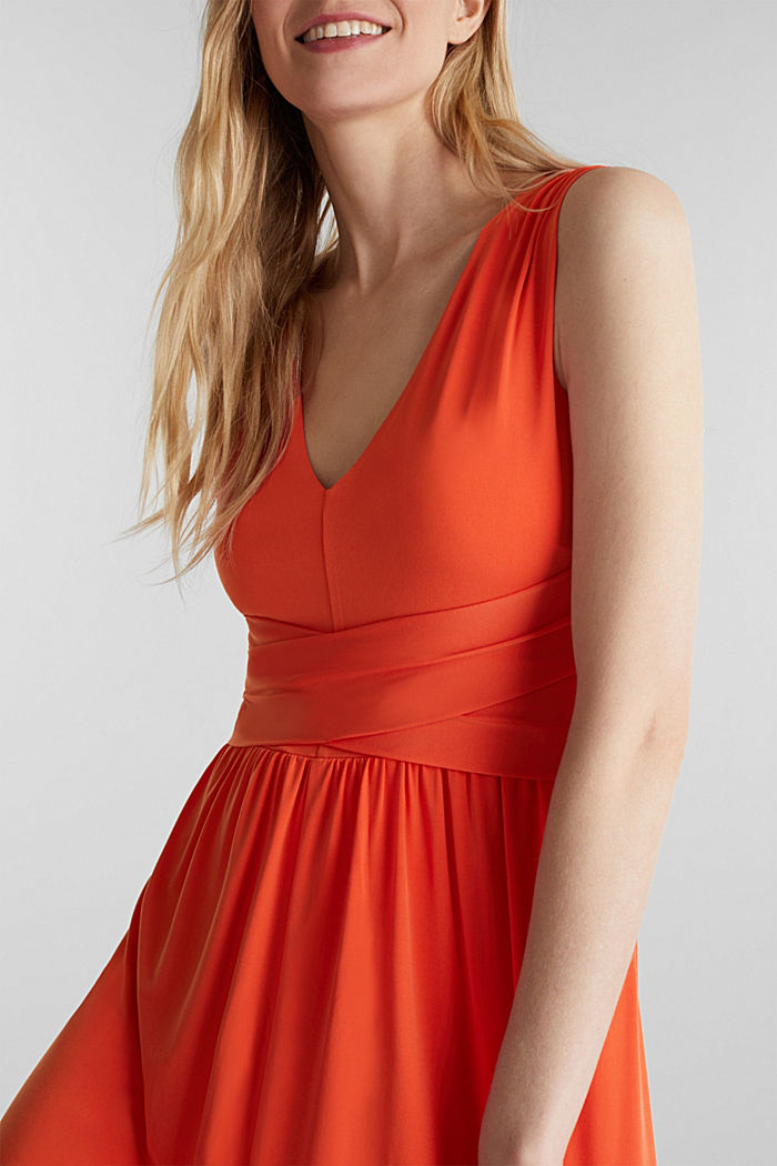 Maxi dress with wrap details, RED ORANGE, detail image number 3