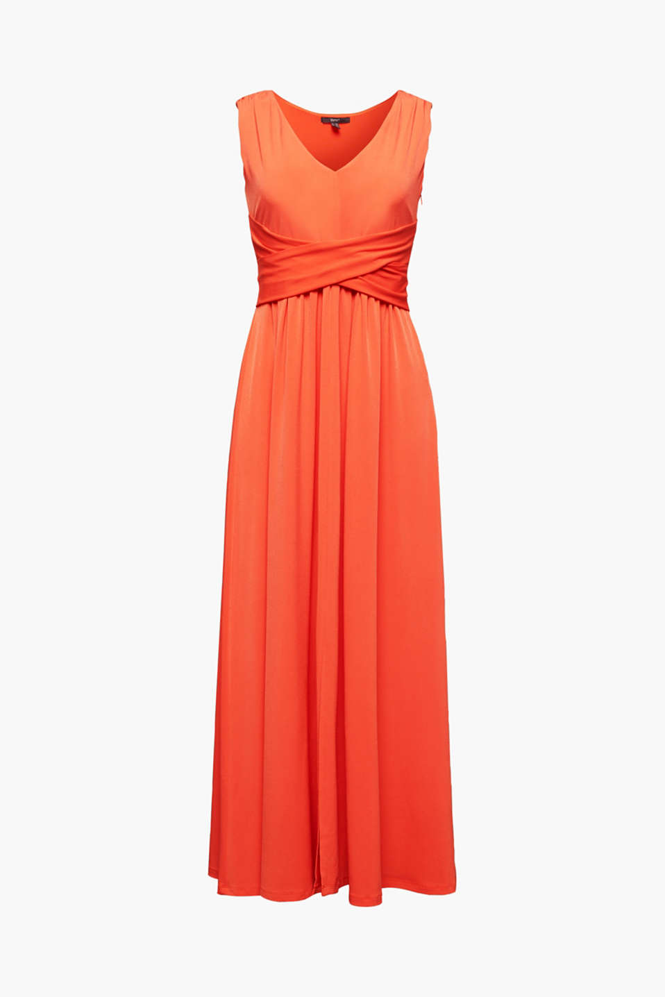 Maxi dress with wrap details, RED ORANGE, detail image number 5