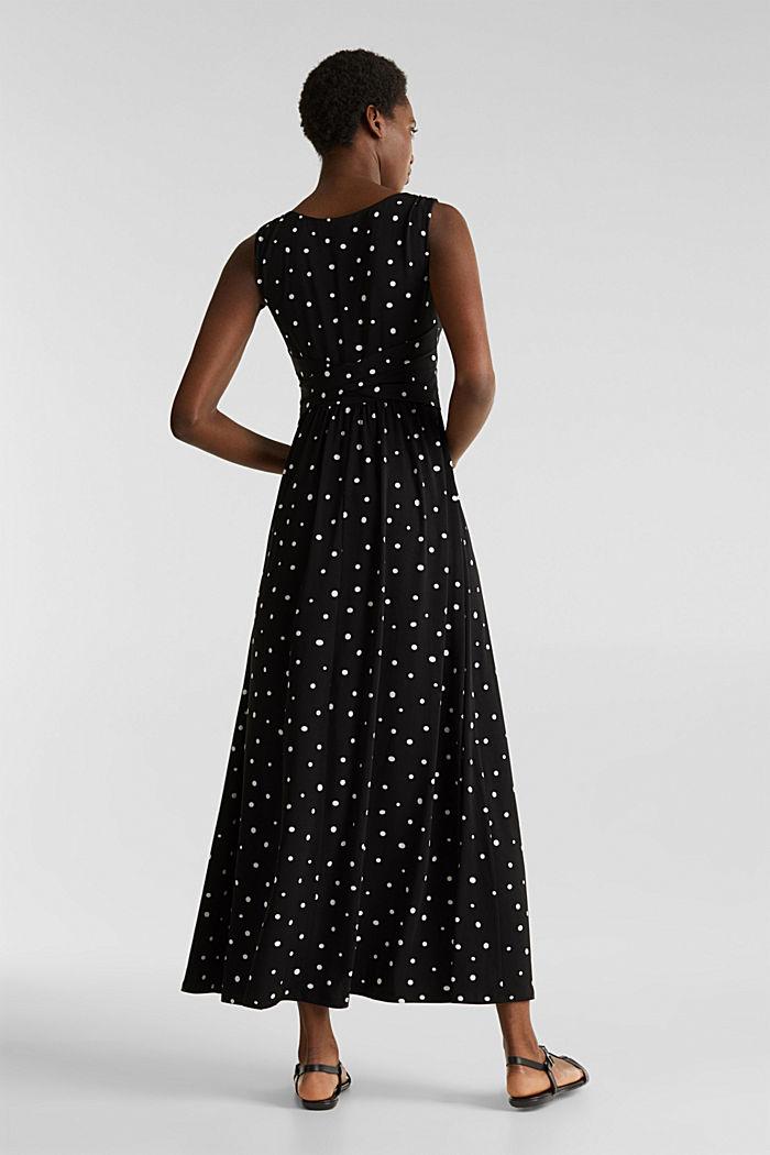 Jersey-Kleid mit Tupfen-Muster, BLACK, detail image number 2