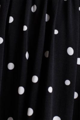 Jersey dress with a polka dot pattern, BLACK 3, detail
