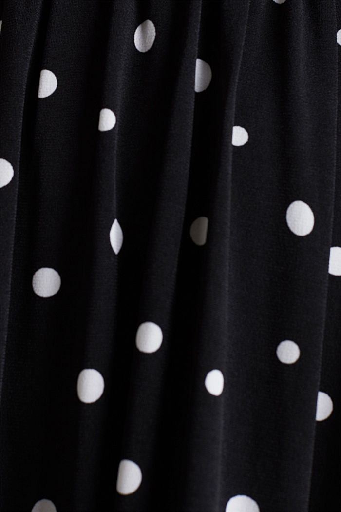 Jersey-Kleid mit Tupfen-Muster, BLACK, detail image number 3