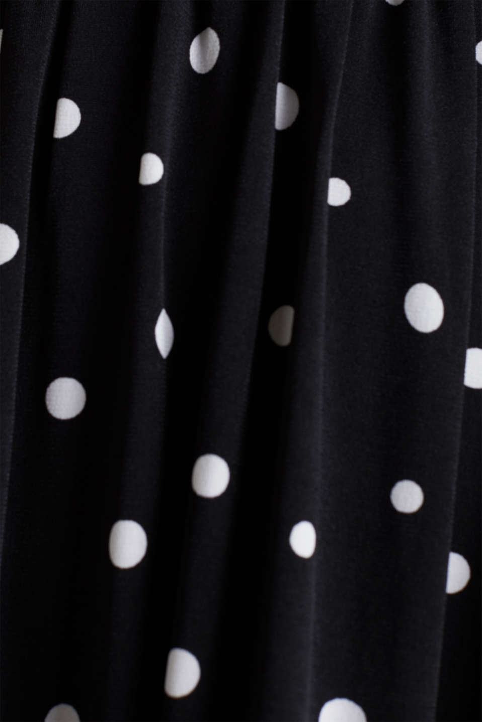 Jersey dress with a polka dot pattern, BLACK 3, detail image number 3