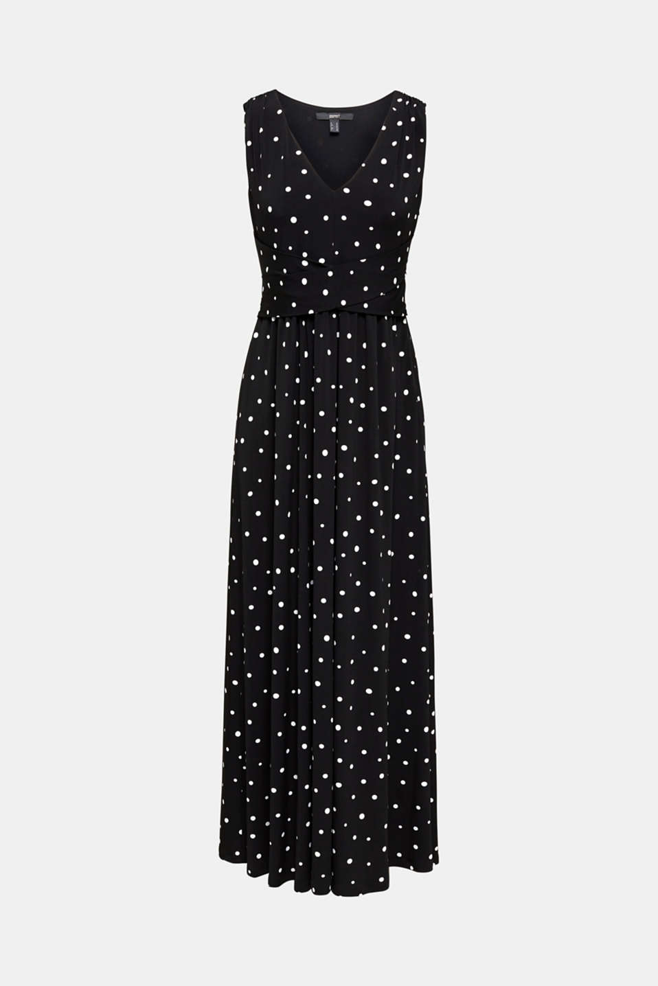 Jersey dress with a polka dot pattern, BLACK 3, detail image number 5