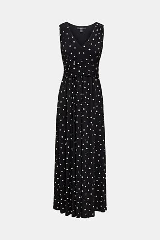 Jersey dress with a polka dot pattern