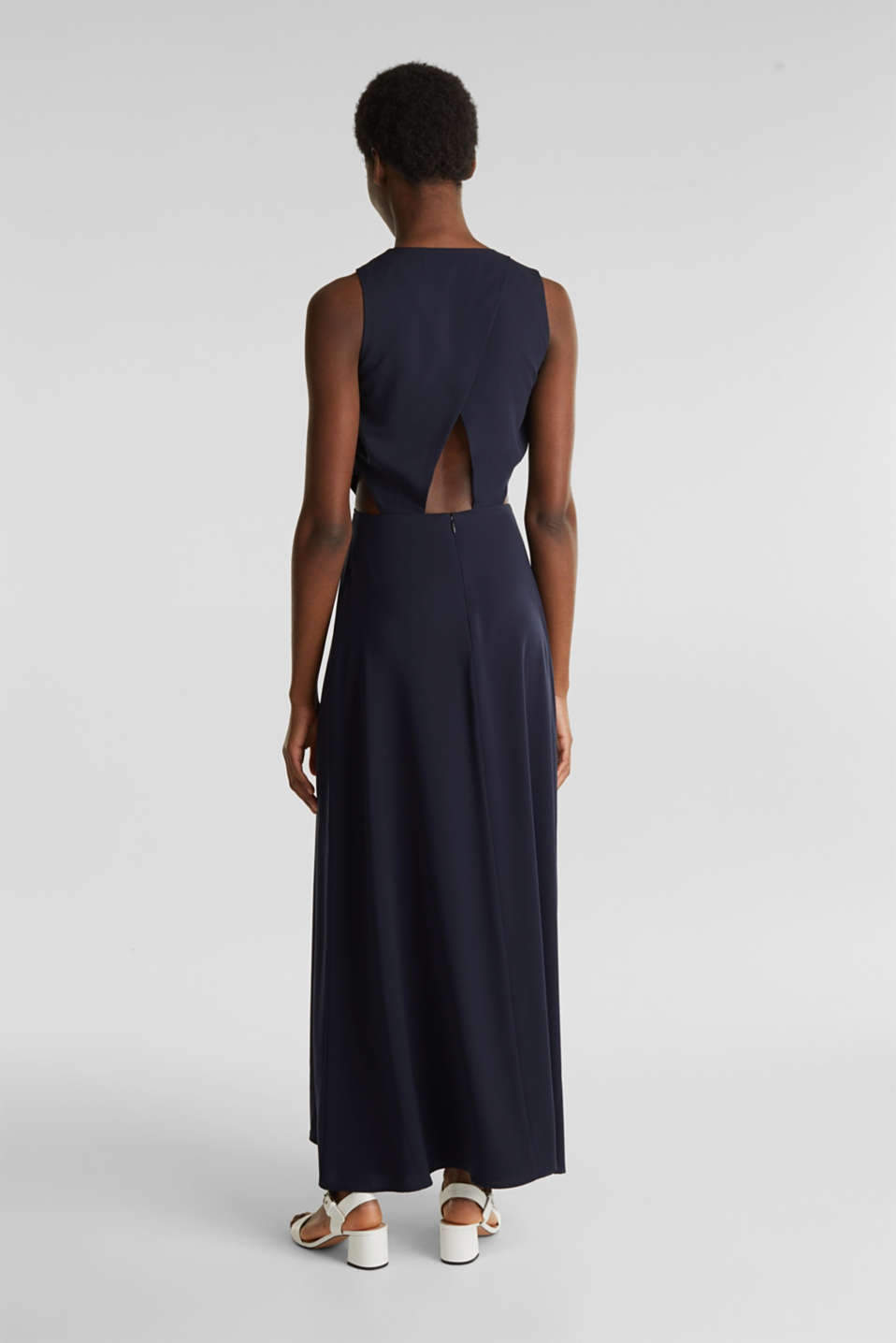 Dress with cut-outs and wrap-over effects, NAVY, detail image number 2