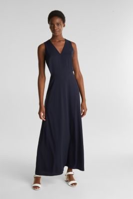 Dress with cut-outs and wrap-over effects, NAVY, detail