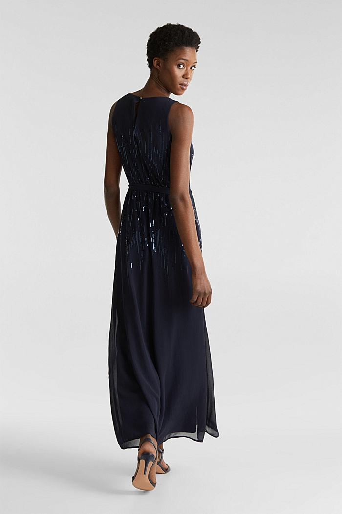 Maxi-Kleid mit Pailletten-Dekor, NAVY, detail image number 2