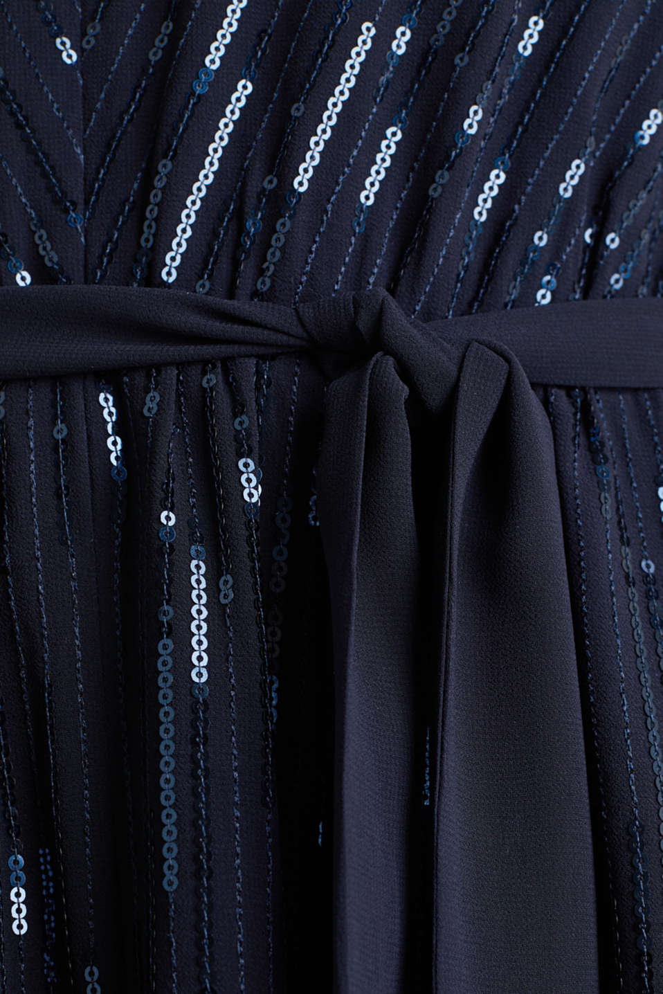 Maxi dress with decorative sequins, NAVY, detail image number 3