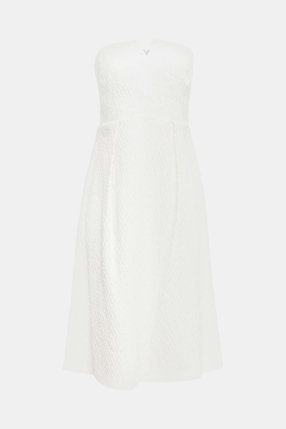 Dress with detachable straps, OFF WHITE, detail image number 5