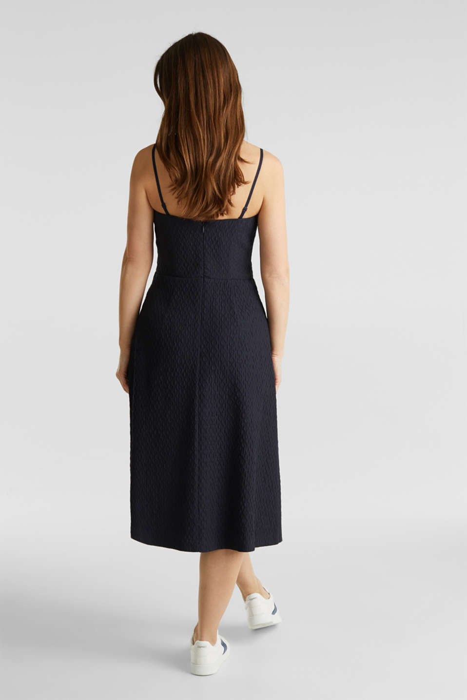 Dress with detachable straps, NAVY, detail image number 2
