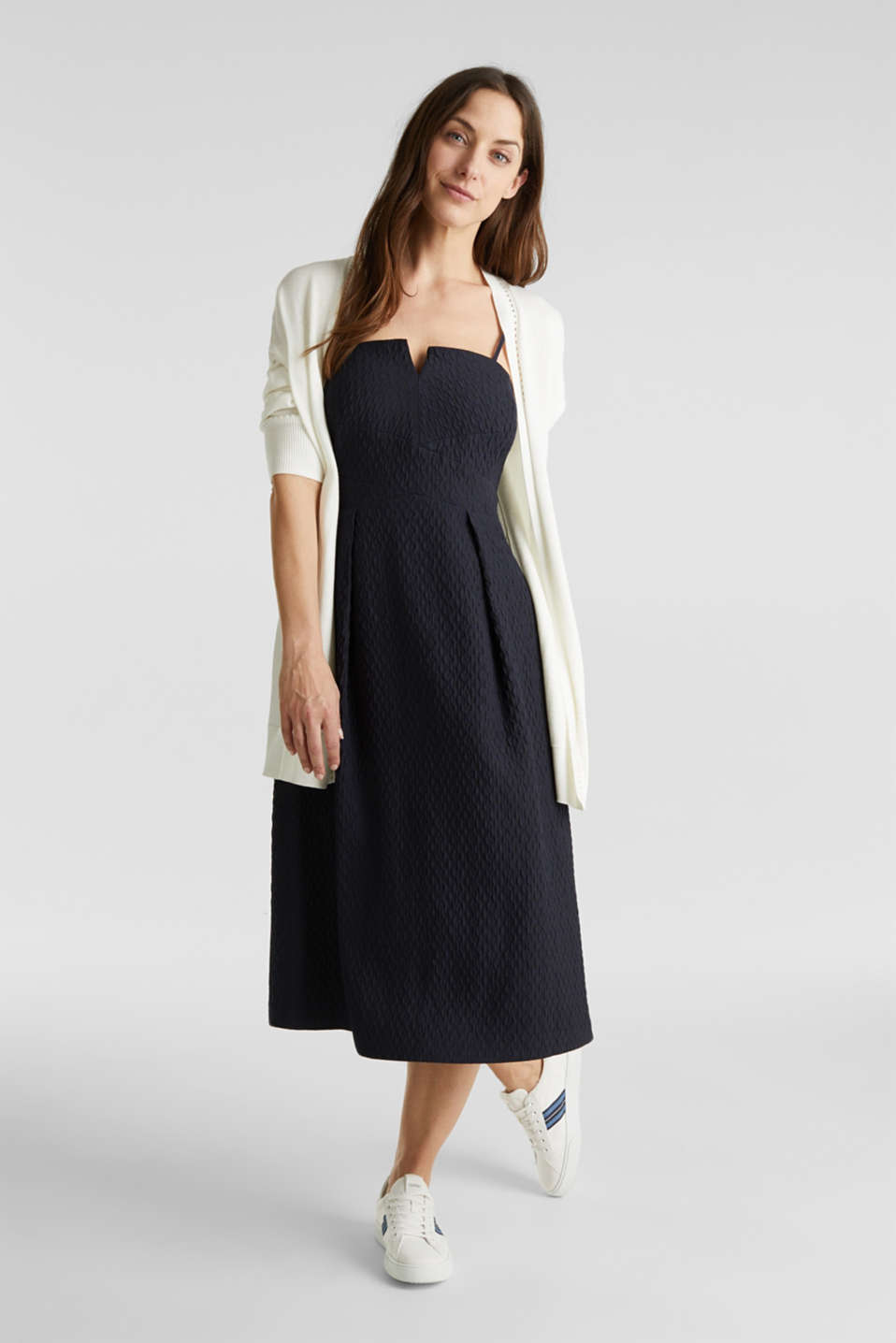 Dress with detachable straps, NAVY, detail image number 0