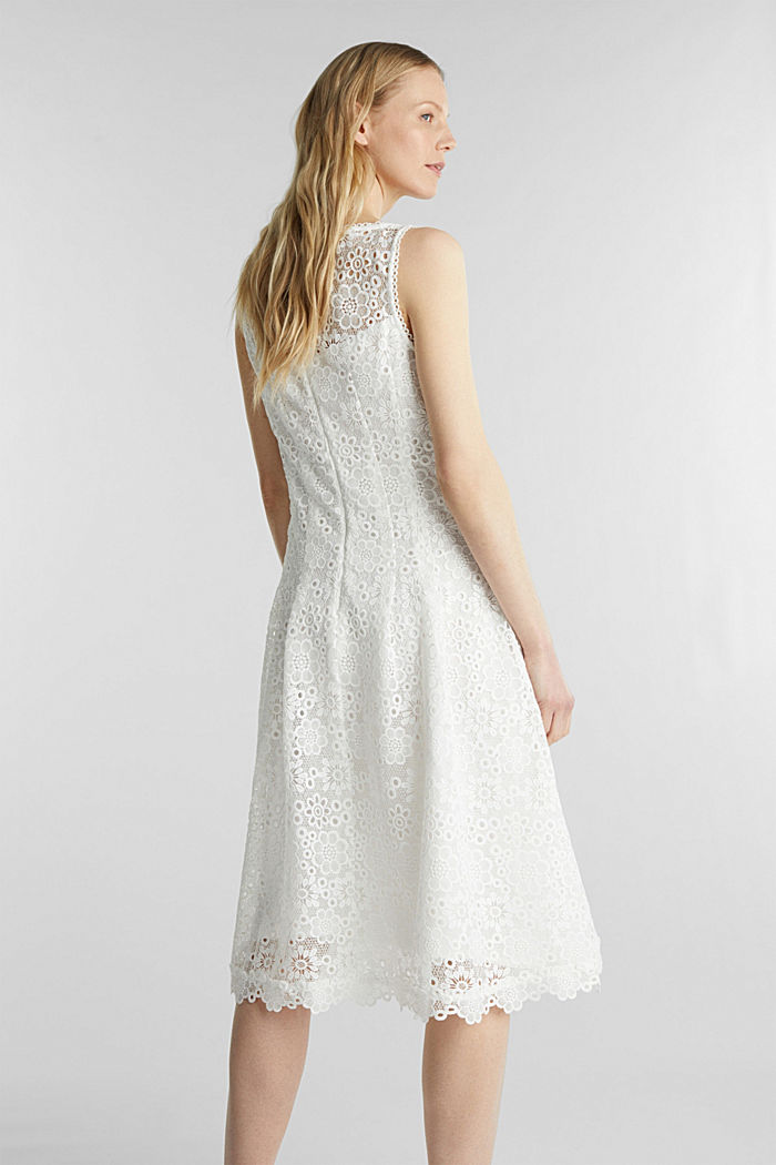 Floral lace dress, WHITE, detail image number 2