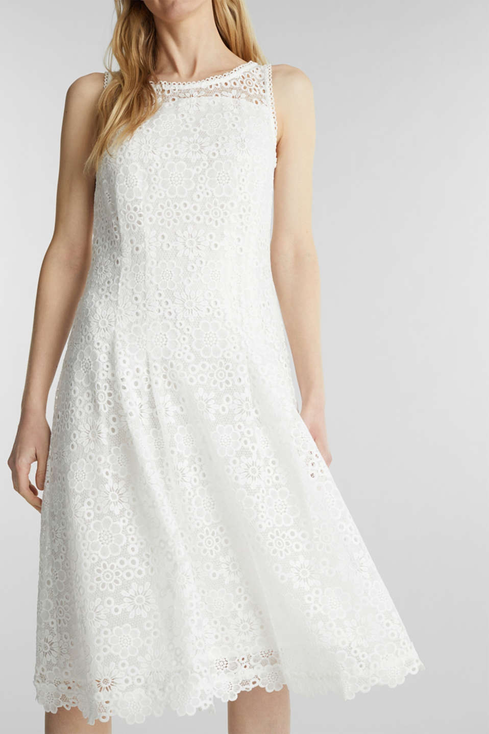 Floral lace dress, WHITE, detail image number 3