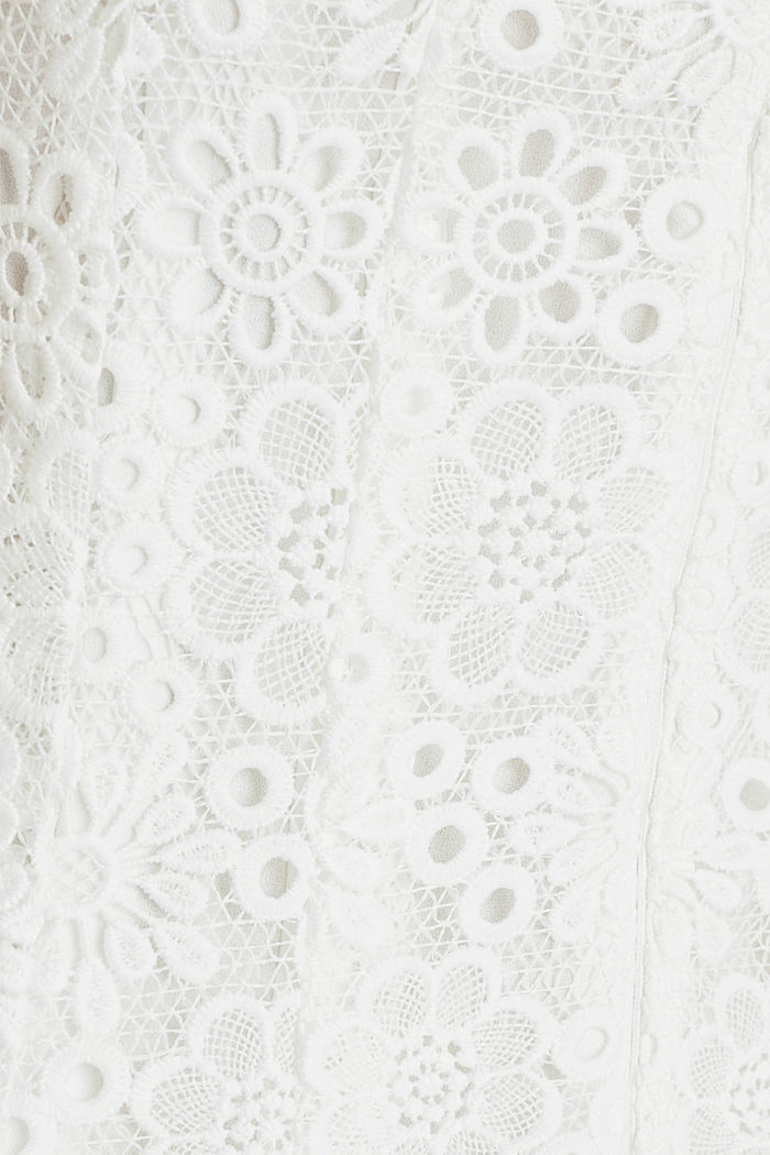Floral lace dress, WHITE, detail image number 4