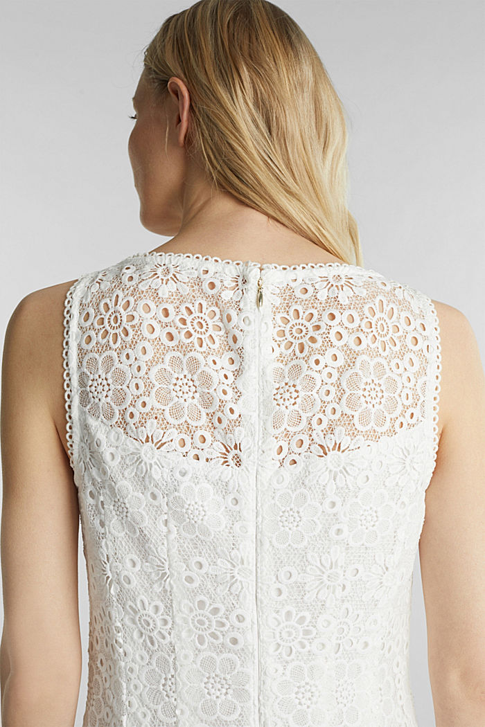 Floral lace dress, WHITE, detail image number 6