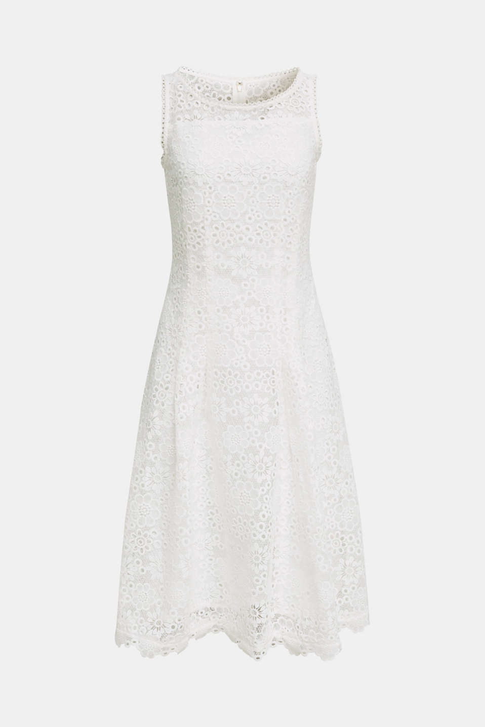 Floral lace dress, WHITE, detail image number 7