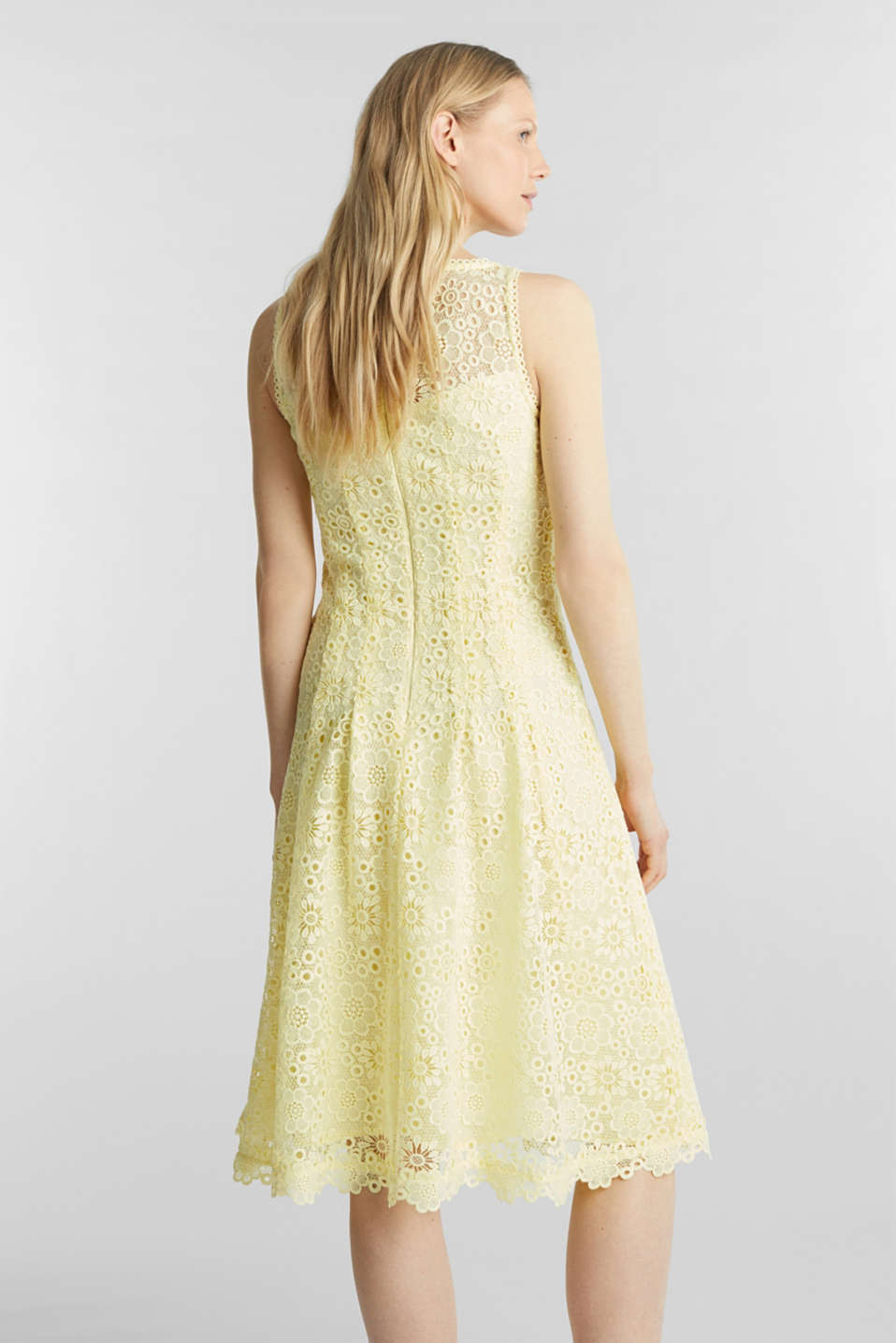 Floral lace dress, LIME YELLOW, detail image number 2