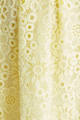 Floral lace dress, LIME YELLOW, detail