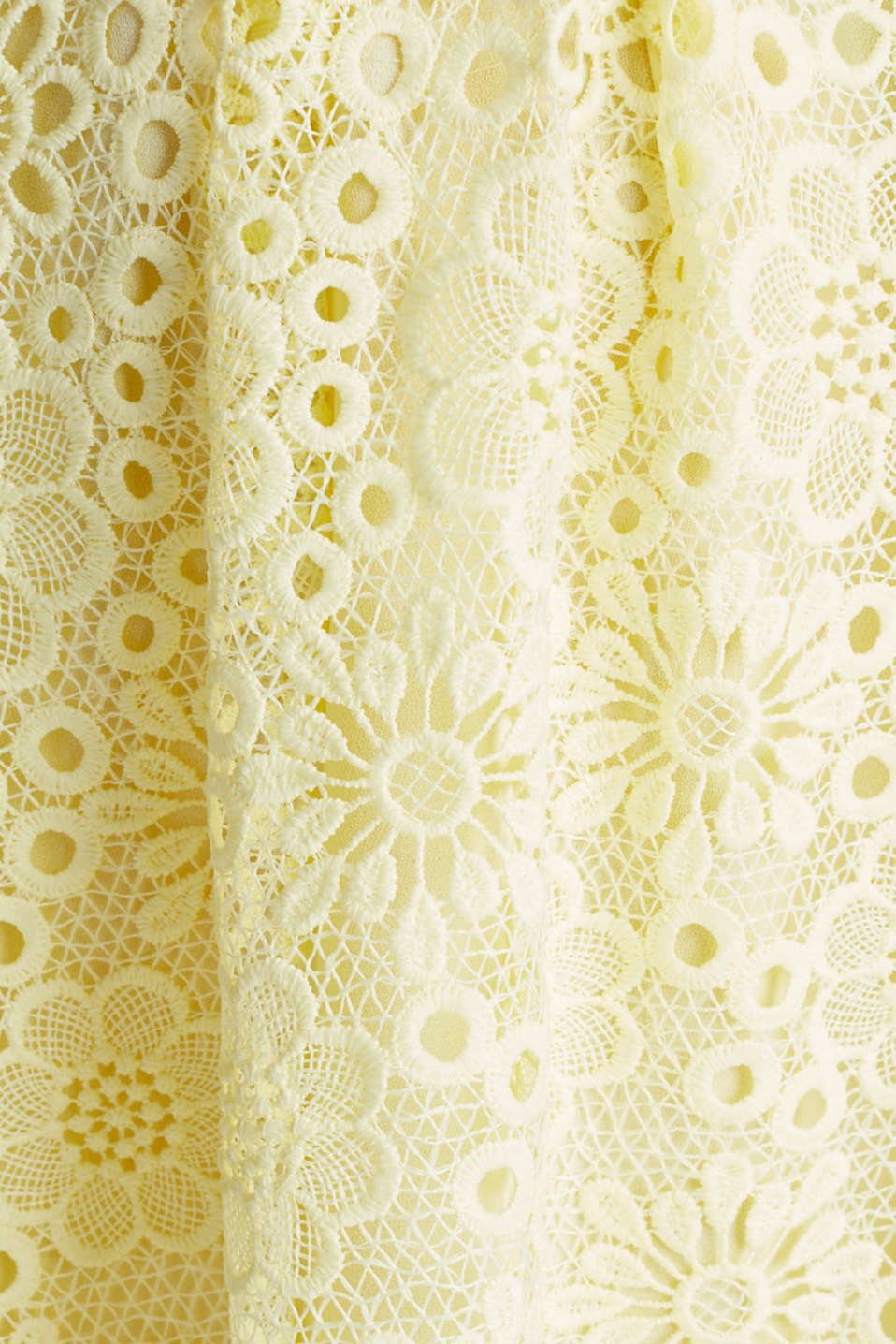 Floral lace dress, LIME YELLOW, detail image number 4