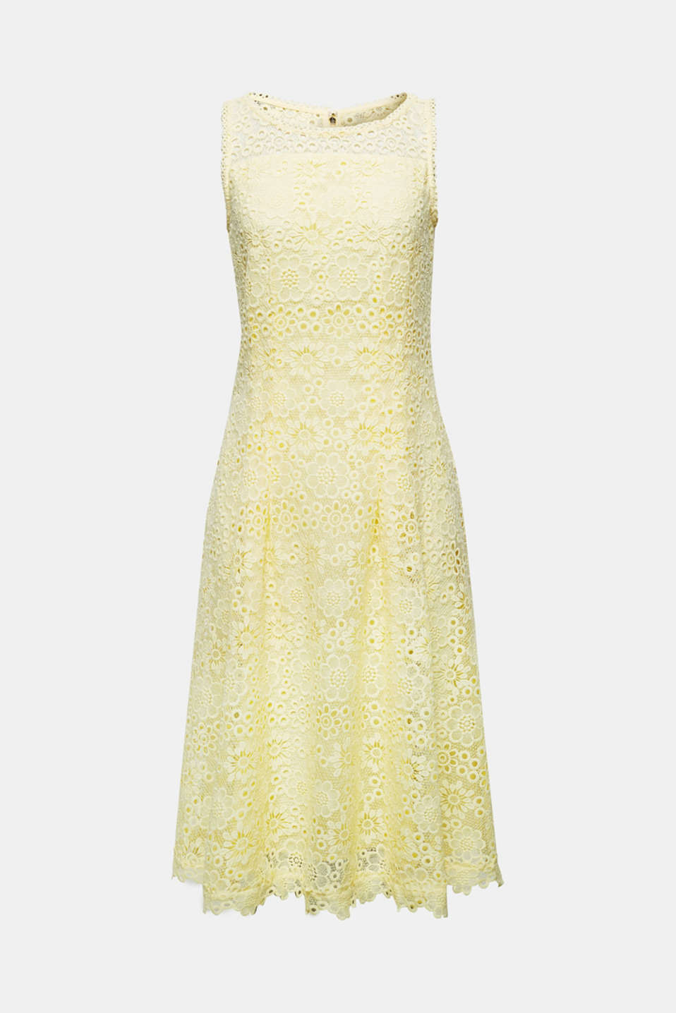 Floral lace dress, LIME YELLOW, detail image number 6