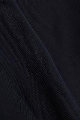 Blended linen: shirt dress with a belt, BLACK, detail