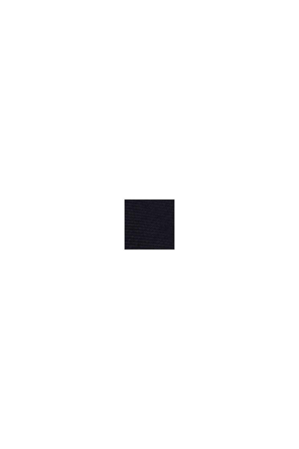 Con lino: vestido camisero, BLACK, swatch