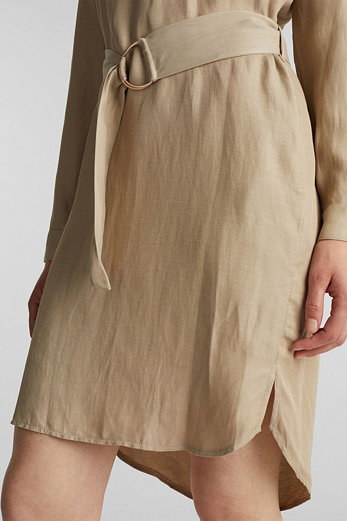 Linen blend: shirt dress