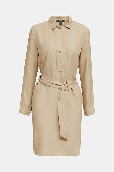 Linen blend: shirt dress