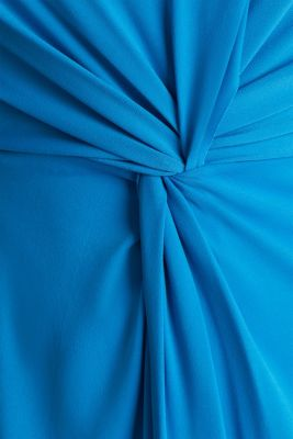 Stretch jersey dress with a draped effect, PETROL BLUE, detail